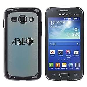Ihec Tech Apolo Luna Misión astronauta azul / Funda Case back Cover guard / for Samsung Galaxy Ace 3