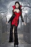 Langes figurbetontes Halloween Kostüm aus Spitze