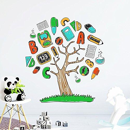 alphabet abc tree wall decals