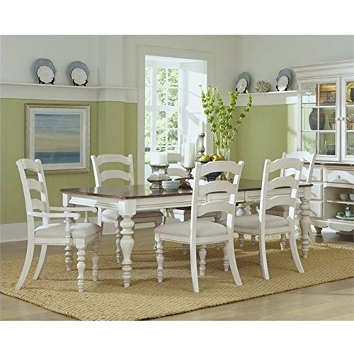 Bowery Hill 7 Piece Extendable Dining Set in Old White