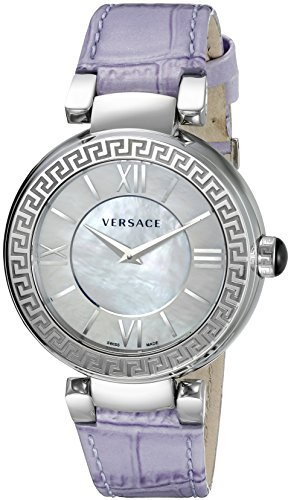 Versace Women's VNC150015 Leda Analog Display Swiss Quartz Purple Watch