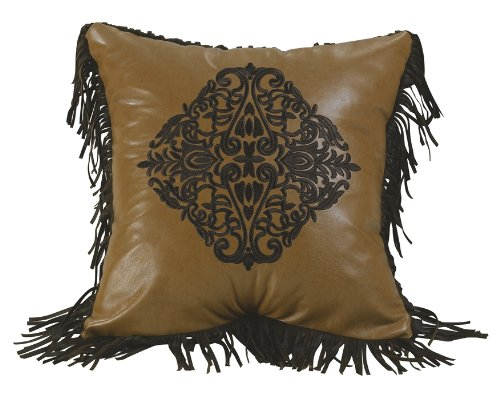 HiEnd Accents Western Embroidered Design Pillow
