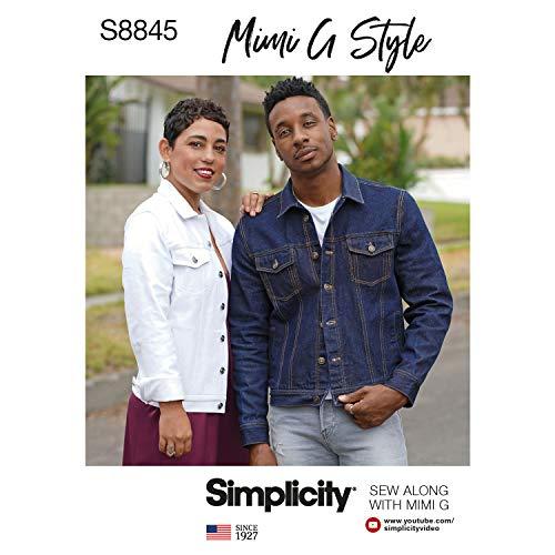 - Simplicity US8845A Pattern S8845 Mimi G Jean Jacket, A (XS-S-M-L-XL)