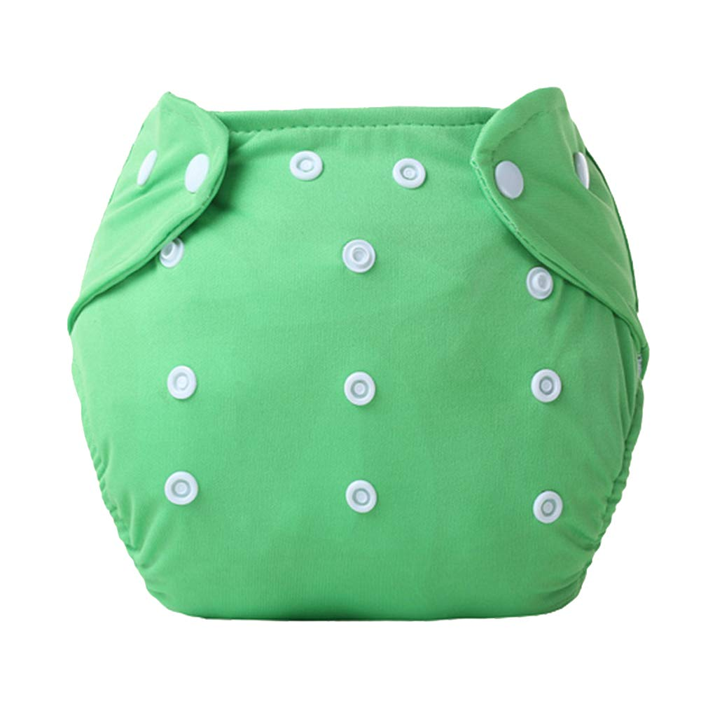 DierCosy Baby Cloth Diapers Washable and Reusable Diapers Adjustable Pull-on Pants Breathable Diaper Pants(Green) BabyProducts