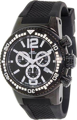 Swiss Precimax Men's SP12035 Titan Elite Black Dial with Black Silicone Band Watch