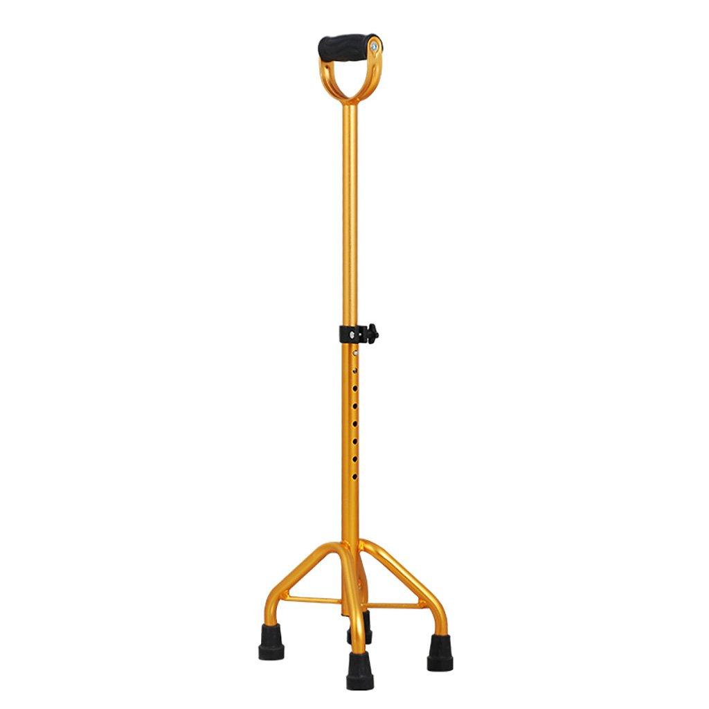 WENJUN 調節可能な伸縮自在の耐衝撃性のある耐久性のある枕木テレスコピック4フィートウォーキングスティックアルミ合金の杖高齢者ノンスリップシングルターン調整障害者ウォーカー B07F45RDDD