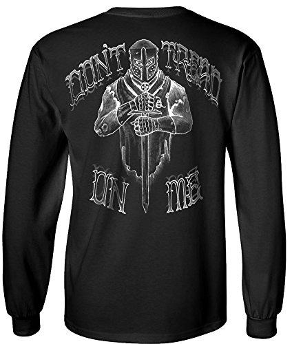 Crusader Long Sleeve - Longsleeve Crusader T-Shirt Black - 2XL