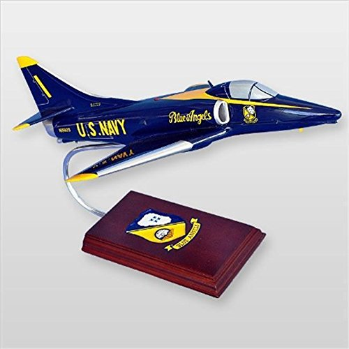 Mastercraft Collection MCA4BAW A-4 Skyhawk Blue Angels Wood Desktop Model ^G#fbhre-h4 8rdsf-tg1346765