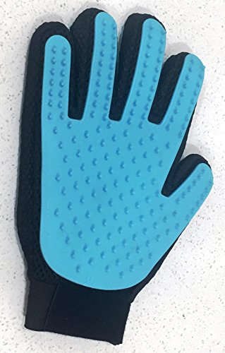 [Upgraded Five Finger Design] Pet Grooming Glove for Cats Dogs Bunnies- Pet Hair Removing Glove with Smooth Rubber Tips…