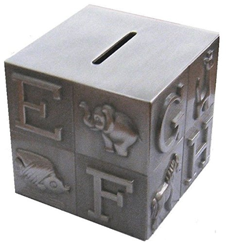 - Elegance Heim Concept Pewter Plated ABC Block Bank