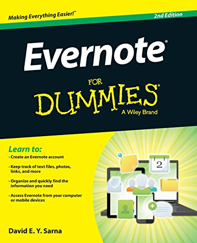 Evernote For Dummies [David E. Y. Sarna] (Tapa Blanda)