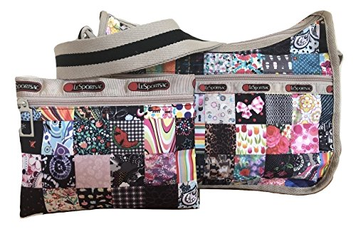 - LeSportsac LePatch Classic Hobo Crossbody Bag + Cosmetic Bag