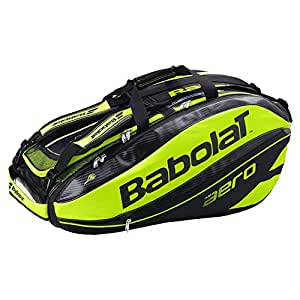 Babolat Pure Aero (12-Pack) Tennis Bag (Black/Yellow)
