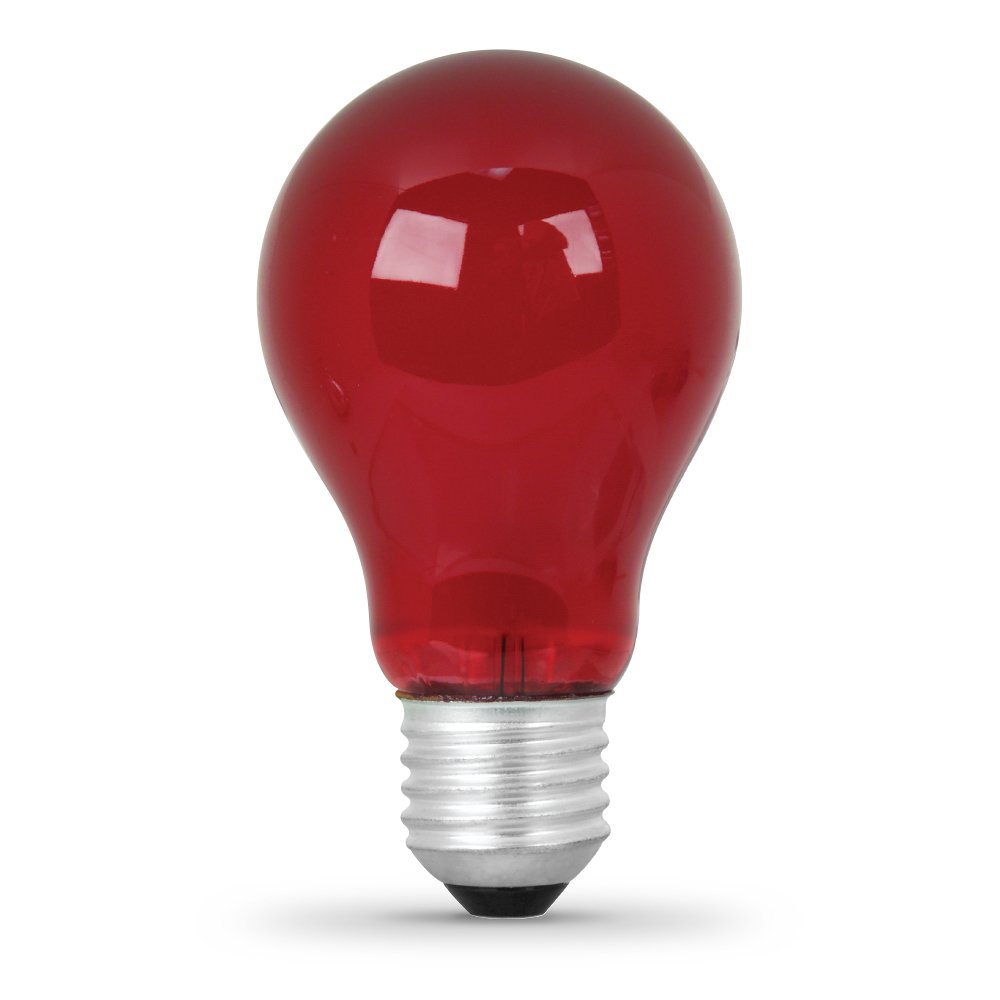 Feit ML25A//R 25W A19 Incandescent Red Light 1-Pack