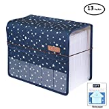 Expanding Files Folder A4 Accordion Organizers with Cover 13 Pockets, Expander Storage Wallets,Expandable Filing Folders Large Space,Office School Document with Tab for Sheets Paperwork