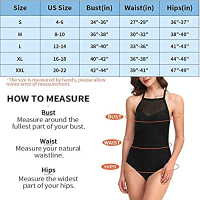 FIGESTIN One Piece Swimsuit for Women Padded Push Up Bathing Suits Plus Size Swimwear at Women's Clothing store