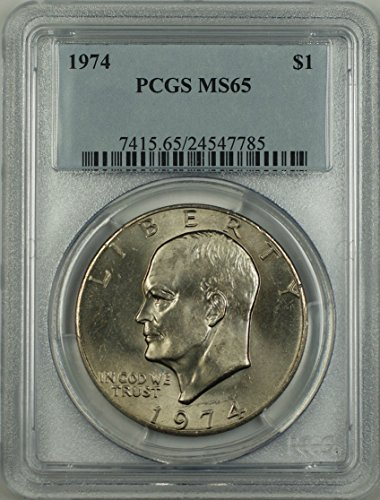 1974 No Mint Mark Eisenhower Dollar PCGS MS-65