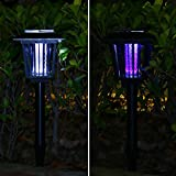 EBEYUKI (upgrade) Solar-Powered Outdoor Insect Killer solar Bug Zapper Mosquito Killer- Hang or Stick in the Ground Bug Zapper