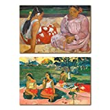 This art collection contains of 2 24x36 Inch unframed gilecee prints of famous painter Paul Gauguin's paintings.       The Illustrations are printed on high quality FSC Eco archival matt paper and trimmed for easy and standard framing size.       ...