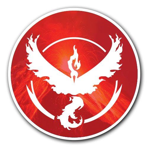 Price comparison product image Pokemon Go - [CUSTOMI] Team Red Valor Decal Sticker for Car Truck Macbook iPad Laptop Air Vinyl