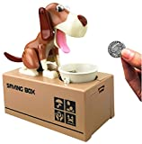 Mansalee Cute Dog Piggy Bank Doggy Coin Bank Canine Money Box (Brown)