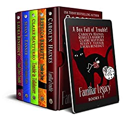 A Box Full of Trouble: 5 Black Cat Detective Novels from the Familiar Legacy series by [Haines, Carolyn, Barrett, Rebecca, Matturro, Claire, Tanner, Susan Y., Benedict, Laura]