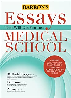 Medical school admissions essay review