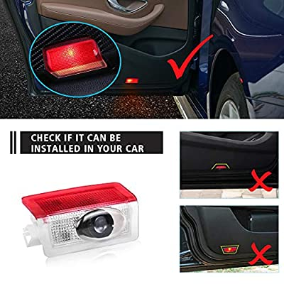 Car Door Logo Projector Lights LED Ghost 3D Shadow Light for Mercedes Benz A B E W176 W246 W212 Auto Puddle Lamps Accessories custom 4 pack: Automotive