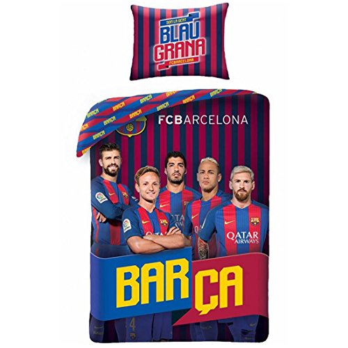 Barcelona FC Barca Players Messi Suarez Single Duvet Cover 140 x 200 cm - 70 x 90 cm Cotton