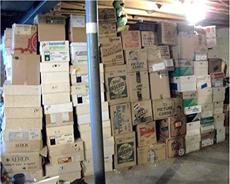 Baseball Card Storage Unit Auction Find Investment Box Of 600 Cards Loaded With Stars Rookies