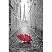 "Merchandise 24/7 Paris Poster Eiffel Tower Umbrella (20""x13"")"