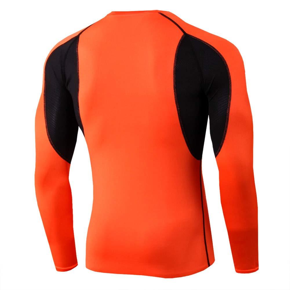 Cool Dry Sport Long Sleeve Baselayer Running Shirt Slim Compression Gym Top M