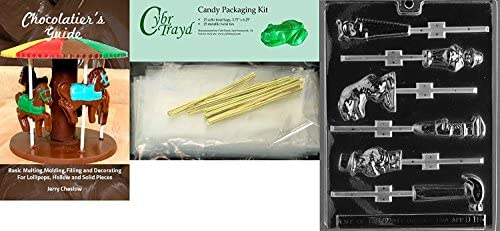 25 Blue Twist Ties and Chocolatiers Guide Cybrtrayd Mdk25BBk-D043Tool Box Pour Dads Chocolate Candy Mold with Bundle of 25 Cello Bags