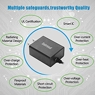 Saireed UL AC Wall Charger for Lenovo Tablet Tab 2 3 Tab4 7 8 10 A10 A7 A12 Yoga Book 10.1