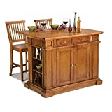 Large Kitchen Island Kitchen Island with Stools (Distressed Oak)