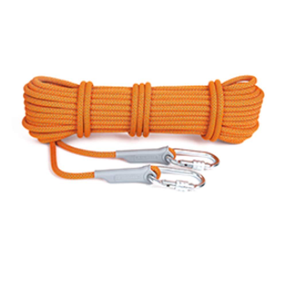 クライミングロープ :、12mm直径の屋外登山高強度救命ロープ、50Mロング多目的ユーティリティロープ (色 : Orange 50m Green, サイズ さいず : 50m) B07P135F3Y Orange 50m 50m Orange, ピアノベール:9963ddc3 --- lindauprogress.se
