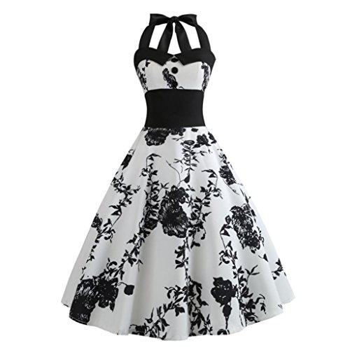 - Women Vintage Dress, Clearance Halter Sleeveless Evening Party Valentine's