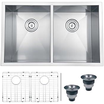 ruvati rvh7350 undermount 16 gauge kitchen sink double bowl 30 stainless steel. beautiful ideas. Home Design Ideas