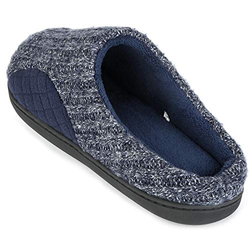 ULTRAIDEAS Memory Men's Navy Knitted Fabric Winter Slippers Cotton Autumn Cashmere Foam HxFwqHrO