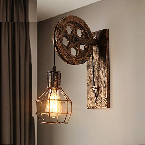 FXING Moderne Wandleuchte Wohnzimmer modernen minimalistischen Schlafzimmer Bett Hintergrund Hotel Riemenscheibe Wandleuchte, 25  50 cm