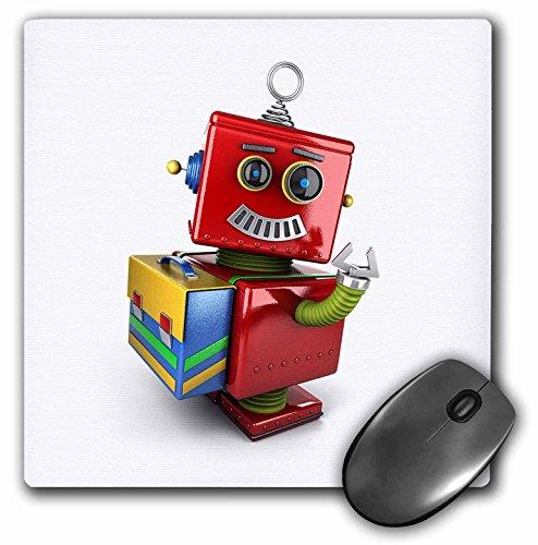 3d Rose 3dRose LLC 8 x 8 x 0.25 Inches Mouse Pad, Cute Vi...