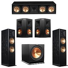 Klipsch 5.1 Black Ash System with 2 RF-7 III Floorstanding Speakers, 1 RC-64 III Center Speaker, 2 Klipsch RP-250S Surround Speakers, 1 Klipsch R-115SW Subwoofer