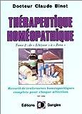 Thérapeutique homéopathique T.2