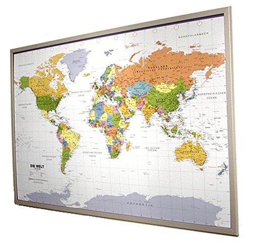 Politische Weltkarte auf Pinnwand