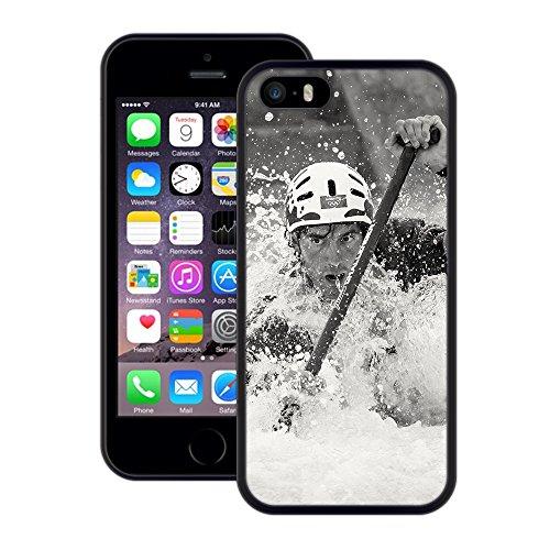 Whitewater-Kajak   Handgefertigt   iPhone 5 5s SE   Schwarze Hülle