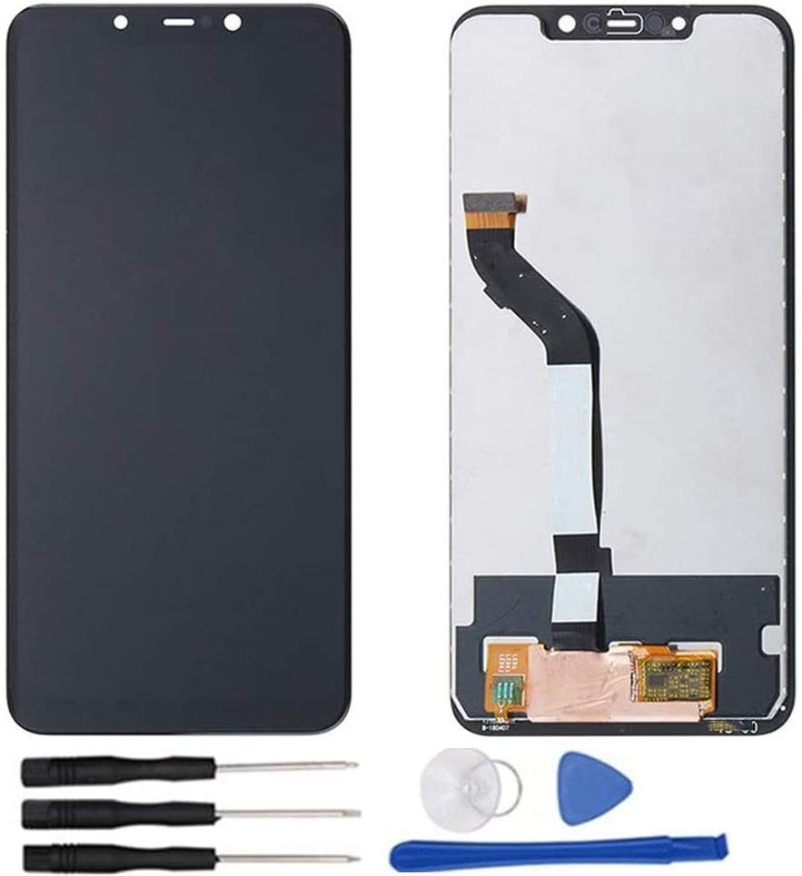soliocial Asamblea Pantalla LCD Pantalla Táctil Vidrio para Xiaomi Mi Poco F1/ Pocophone F1 M1805E10A Negro: Amazon.es: Electrónica