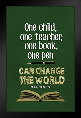 ProFrames Malala Yousafzai One Pen Can Change The World Quote Framed Poster