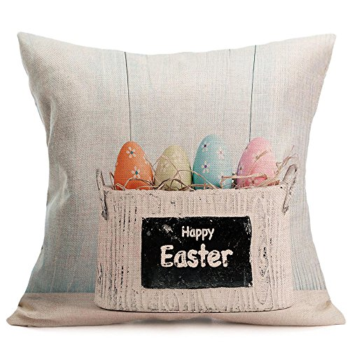 (HYIRI Easter Sofa Bed Home Decoration Festival Pillow Case Cushion Cover)