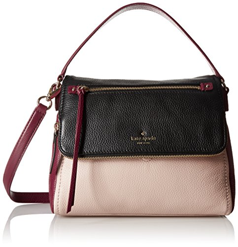 kate spade new york Cobble Hill Small Toddy Shoulder Bag, Pressed Powder/Merlot/Black, One Size