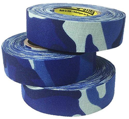 3 Rolls of Comp-O-Stik Blue Camouflage Hockey Lacrosse Bat Cloth Stick Tape ATHLETIC TAPE (3 Pack) Made In The U.S.A. 1'' X 60'